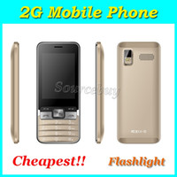Wholesale Cheapest Quad Band Dual Sim - Cheapest Mobile phone H-mobile T1 2.8 inch No System 2G GSM Unlocked Quad Band Back Camera Cell Phone with Flashlight Free Shipping