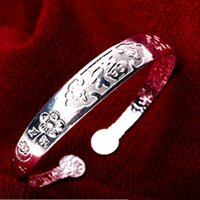 Wholesale Gray Meaning - China Miao nationality Silver Bracelet, Bangle, adjustable size, China FU(means lucky), free shipping and high quality