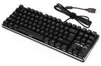 Wholesale Aula Gaming - AULA F2012 Professional Blue switch USB Wired 87 Keys Mechanical Gaming Keyboard with Backlight for Desktop Laptop