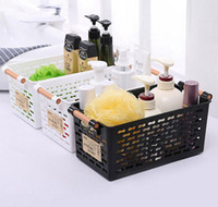 Wholesale Storage Baskets Japanese - Japanese - style plastic storage basket finishing finishing basket bathroom table cosmetics small basket kitchen storage box LZ0373