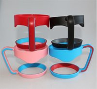 Wholesale Pounds Cups - Portable Plastic cup Hand handle Holder Mugs black mug Holder For 20 oz 30 oz Cups Handle hiking Outdoor Gadgets