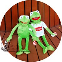Wholesale Frog Plush Animal - New 40cm Kermit Plush Toys Sesame Street Doll Animal Kermit Stuffed Toy Plush Frog Doll Baby Toy Christmas Birthday Gift
