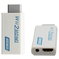 Wholesale Audio Video Converter Box - White For Wii Male to HDMI Female Wii2HDMI Adapter Converter Support Full 1080P HD 3.5mm Audio Video Output