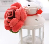 Wholesale Home Decorate Flowers - Wholesale- 15 cm cartoon Rose curtain buckle Creative Flower Series Plush Toys tieback For gift at home decorate