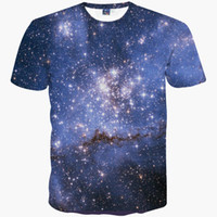 Wholesale Shirt 3d Shark - Space galaxy t-shirt for men women 3d t-shirt funny print cat horse shark cartoon fashion summer t shirt tops tees