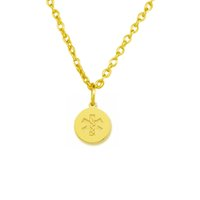 Wholesale Medical Goods - 2017 new trend necklace 30pcs Zinc Alloy 18k Gold or Rhorium Plated Medical Symbol Snake Cross Pendants Religious Necklaces Good Luck