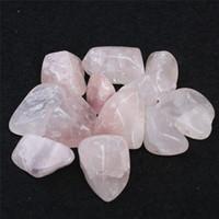 getrommelte steinperlen großhandel-FREIES VERSCHIFFEN Wholesale 200g getrommelten Stein 30-40 Millimeter natürliche Rosen-Kristallmulti Korne, die reiki gute glückliche Energiesteine mit BEUTEL heilen