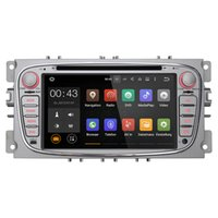 Wholesale Android Dvd Gps Ford - Joyous 2 Din 7 inch Quad Core Car DVD Player For Ford Focus Mondeo Galaxy Android 5.1 GPS Navigation Radio AUX Multimedia System Audio