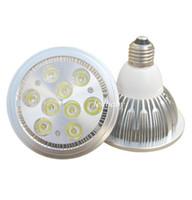 yüksek güçlü spotlar toptan satış-Yüksek Güç AR111 LED Spotlight 10 W 14 W 18 W 24 W G53 Alüminyum Alaşım Led Ampuller AC85-265V Iş Aydınlatma için Halojen Değiştirin