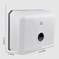duvara montaj aksesuarları toptan satış-Toptan-Modern ABS Tuvalet Kağıdı Tutucu Otel Kamu Yer Kağıt Mendil Duvara Monte Banyo Aksesuarları