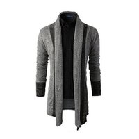 Wholesale Cardigan Style Wool Coats - Sweater Men Brand Clothing Patchwork Cardigan Knitted Pullover Men Slim Fit Plus Size Men's Top Long Sleeve Sweater Coat