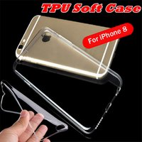 Wholesale Cell Resistance - Soft TPU Cases Transparent Crystal Cover iphone cases Silicone Drop resistance Cell phone Shell for iphone 6 6s plus 7 7plus iphone8