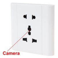 Wholesale Electrical Card - White Voice-activated Security Electrical Outlet Hidden Camera Support TF Card