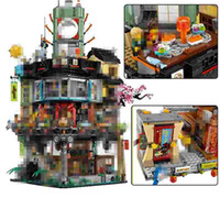 Wholesale Teenagers Model - Lepin 06066 Construction Model Creative City 4932pcs Modular Building Blocks Teenagers DIY Toys Bricks Compatible 70620 as Gift