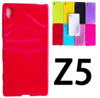 Soft Candy Plain TPU Gel Glossy Case Cover para Sony Xperia Z3 Z4 Compact Mini Z5 premium Plus C4 C5 M5