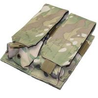 Wholesale Dual Gym - Hot Sale 5.56mm Double Tactical Molle Pouch Dual function bag