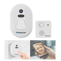 video card imágenes al por mayor-Única cámara inalámbrica de timbre WiFi con aplicación de alarma de instantánea Foto Intercom Video Puerta de teléfonos Intercom timbre de la puerta