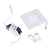 plafones de baño cuadrados al por mayor-Lámpara de techo LED cuadrada redonda empotrada en la cocina Lámpara de techo para baño AC85-265V LED Downlight Blanco cálido / Blanco frío Envío gratis