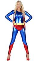 Wholesale Superhero Adult Costume - sexy Adult New Ladies Halloween cosplay Super Hero Woman Girl Fancy Dress Costume Party Superhero Supergirl S350 one size S-L