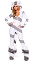 Wholesale Kitty Sexy Costume - Wholesale-New Fantasy Halloween costumes for women Free Shipping sexy Kitty Cat costume 3S1602 Animal costumes for women