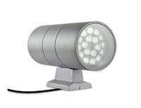 led vatio spot al por mayor-Lámpara de montaje en pared LED de 36 vatios HACIA ABAJO ABAJO Cilindro de luz lateral Aluminio Columbia Exterior Impermeable IP65 Spot Lights Lampara Rojo Verde