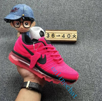 Wholesale Outdoor Floor Lights - Fashion Colors Maxes 2017 Men Women Running Shoes Sneakers Maxes KPU Athletic Sport Outdoor Walking Shoes Size US 5.5-13