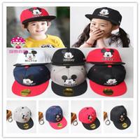 Wholesale Free Cartoon Winter Hats - New Mickey Mouse Kids Cartoon Snapback Caps Donald Duck child baseball cap childrens hats Free Shipping