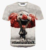 Wholesale V Bomb - 2016 Summer Men's 3d T-Shirt Explosion Atomic Bomb Printed T shirt for women men harajuku Punk creative Short Sleeve Tee Shirts