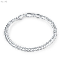 Wholesale Silver Snake Chain 5mm - 5MM 925 sterling silver plated snake chain bracelets fashion jewelry for men Christmas gifts low price free shipping