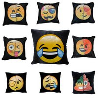Wholesale Wholesale Sequin - Double Color Emoji Sequins Pillow Case Poop Pillowcase Emoji Mermaid Cushion Pillow Covers Home Sofa Car Decor Cushion Gifts 40*40cm SF42
