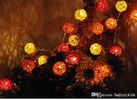 dış mekan yılbaşı dekorasyonları güneş aydınlatma toptan satış-Parti Dekorasyon Küre Dize Işıklar Led Noel Dizeleri Led Işıkları Renkli Güneş Enerjisi / Pil Bahçe Dize Işıklar LED Dekor Açık Ga