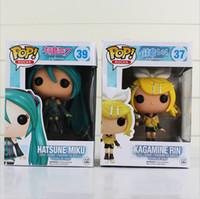 pvc anime figürleri hatsune miku toptan satış-FUNKO POP Anime Hatsune Miku Diva miku Nendoroid Vocaloid pvc doll Aksiyon figürleri çocuklar için doğum günü hediyesi oyuncak