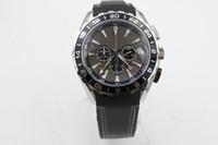 Wholesale Oceans Dresses - brand new watch men quartz chronograph waches Co-Axial planet ocean aqua terra 231.13.44.52.06. 001 leather watches men dress wristwatches
