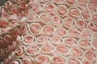Wholesale D chiffon roses handmade lace cloth embroidered cotton crochet couture curtain fabric accessories