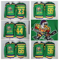 Wholesale Bank Black - Mighty Ducks 33 Greg Goldberg 66 Gordon Bombay 96 Charlie Conway 99 Adam Banks Hockey Jerseys The Mighty Ducks Of Anaheim Movie Jersey