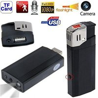 Wholesale Mini Camera Flashlight - HD 1080P DV Hidden Spy Lighter Camera Real Windproof Lighter Vdieo Recorder Portable DVR With Flashlight Portable Mini Candid Camera