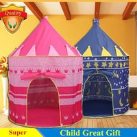 Wholesale Promotion Games Baby - Wholesale-Child great Gift Promotion cute children kids play tent toy game house large princess castle palace baby beach tent ZP2011