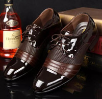 Wholesale Wedges For Wedding Dress - dress shoes for man new mesh leather classic brown black Business ol mens italian dress shoe