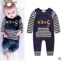 Wholesale Wholesale Boutique Products - INS Baby Boys Girls Outfits Baby Clothing Fashion Newborn Baby Boy Girl Romper Clothes Long Sleeve Infant Product Boutique Clothing 996