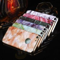 Wholesale Rubber Silicone Cell Phone - Fashion Marble Rock Stone Case PC Silicone Case For iPhone 6 6S Plus iphone 7 Gel Fashion Rubber Cell Phone Case