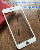 Wholesale Cover Iphone Order - Sample 3D Full Cover Tempered Glass Screen Protector for Iphone 6 6s 7 & plus Soft Edge High Clear 0.26mm Mixed Order Support--YH0034