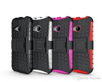 Wholesale Droid Dna Phone - Heavy Duty Rugged Defender Phone Protective Hybrid kickstand Case For HTC One X E8 M8 Mini Max T6 Droid DNA X5 Cover Shockproof