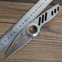 Wholesale field knives - Enlan BEE EL-07 Pocket Folding Knife Stainless Steel Handle Field Survive Camping Hunting Self-defense Fishing Hiking 8cr13mov Steel Blade