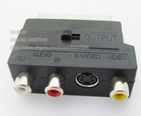 Adattatore per cavo audio RGB Scart a Composite 3 RCA femmina SVHS S-Video AV TV / Free DHL / UPS / Fedex Spedizione / 200PCS