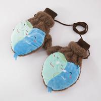 Wholesale Love Heart Mittens - Wholesale-New Women Girls Warm Plush Gloves Full Finger Mittens Lady Cute Love Heart A Neck Gloves