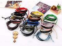 Wholesale Gift String Band - Mix Colors Adjustable String Bands Girls Jewelry Knit Braided Rope Bracelets Cuff Band for Wrist Womens Bracelet Gift