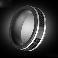 Wholesale Jewelry 12 Titanium - Fashion Black color rings, Women   Mens Titanium stainless steel Big size Jewelry--- Size 5 to 12