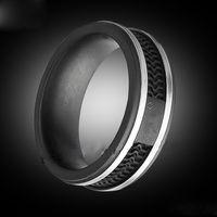 herren große ringe großhandel-Mode schwarze Farbe Ringe, Frauen / Herren Titan Edelstahl große Größe Schmuck --- Größe 5 bis 12
