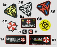PVC Resident Evil Patch Umbrella Corporation Logo Uniform Kostüm Abzeichen Patch Tactical 3D Gummi PVC Flecken Moral Armband Abzeichen VP-21