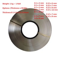 Wholesale Nickel Plated Steel - Thickness 0.1mm 0.12mm 0.15mm 0.2mm 1kg roll Nickel Plated Steel Strap Strip Sheets 18650 conductive sheet spot welding electrode